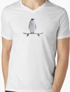 Penguin Skateboard Mens V-Neck T-Shirt