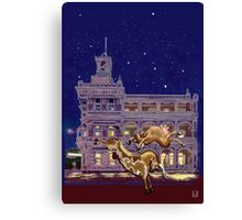 Saturday night, Rockhampton Canvas Print