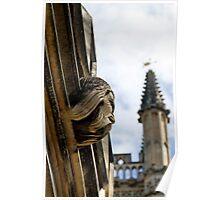 Bearded gargoyle, Magdalen College Poster