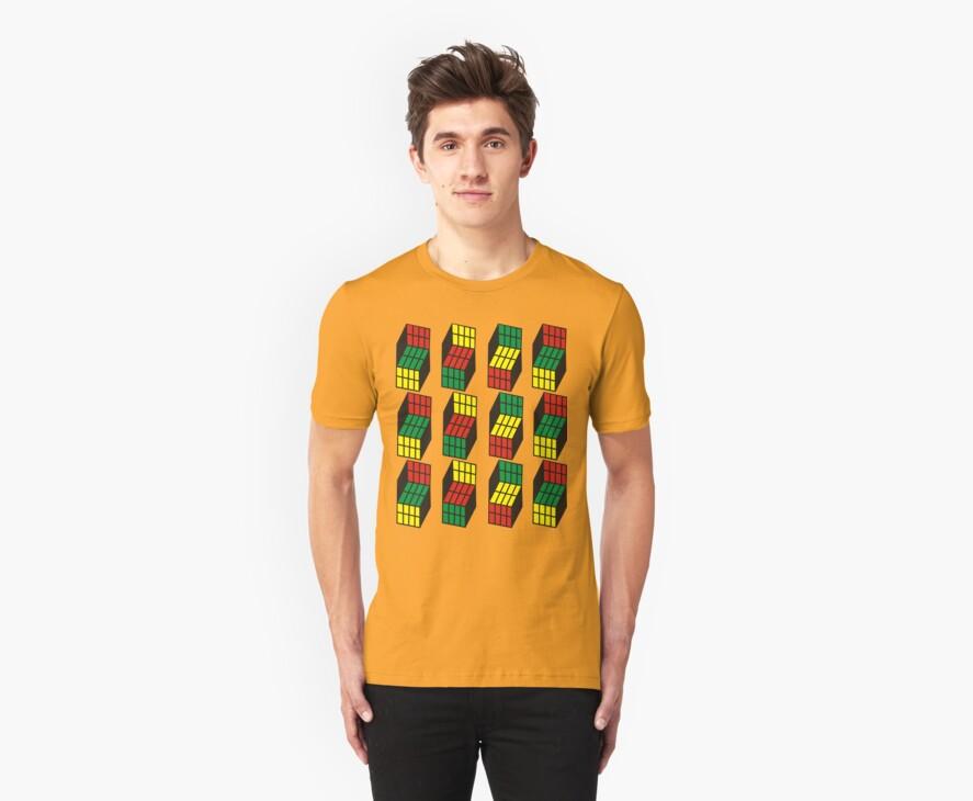Opti Blocks T-Shirt, in 17 Colors