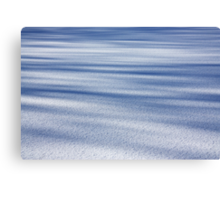 Shadow Painted Ice ... Sprinkled with Snow Canvas Print