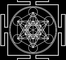 Metatron's Cube - White by GalacticMantra