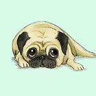 A Pug Waiting For His Dinner by Katie Corrigan