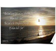 The Lord is my Light - Sunset Poster