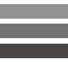 Modern black gray gadient trendy stripes pattern by Maria Fernandes