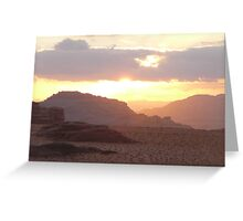 Sunset over Wadi Rum Greeting Card