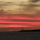 Point Lonsdale Lighthouse in The Sunset by judygal
