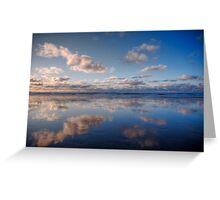 Light Blue Mirror Beach Greeting Card