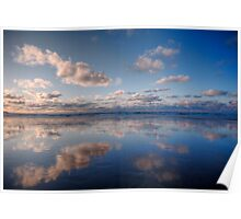 Light Blue Mirror Beach Poster