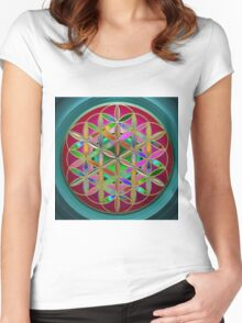 The Flower of Living Metal Women's Fitted Scoop T-Shirt