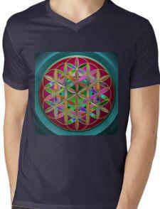 The Flower of Living Metal Mens V-Neck T-Shirt