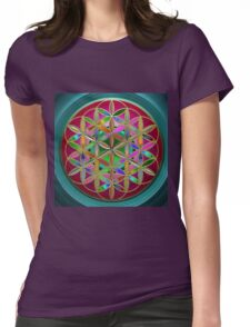 The Flower of Living Metal Womens Fitted T-Shirt