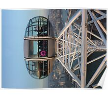 London Eye capsule on a clear day Poster