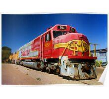 Santa Fe Train as pseudo oil painting Poster