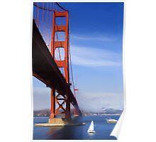 Golden Gate Bridge as pseudo oil painting Poster