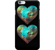 Green Galaxy Heart iPhone Case/Skin
