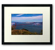 Golden Gate Bridge as pseudo oil painting Framed Print