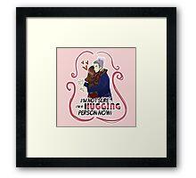 HUGGING person... Framed Print