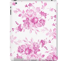 Vintage girly pink white flowers painting iPad Case/Skin
