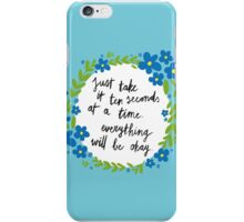 Ten Seconds - Blue iPhone Case/Skin