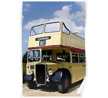 Vintage open top Bristol KSW Poster