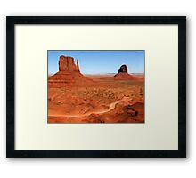The Mittens, Utah, USA as pseudo oil painting Framed Print
