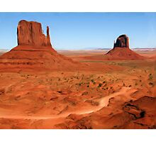 The Mittens, Utah, USA as pseudo oil painting Photographic Print