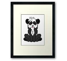 Cute Chibi Panda Framed Print