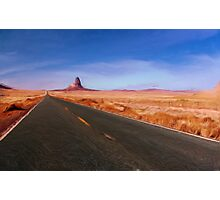 The NeverEnding Road as pseudo oil painting Photographic Print