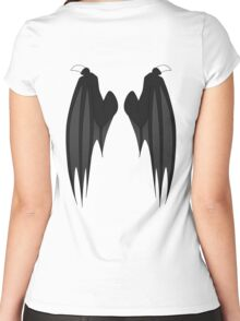 Dragon wings - black Women's Fitted Scoop T-Shirt