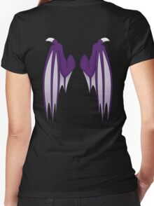 Dragon wings - purple Women's Fitted V-Neck T-Shirt