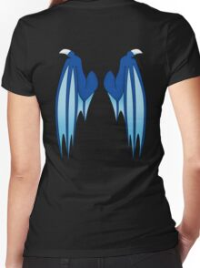 Dragon wings - blue Women's Fitted V-Neck T-Shirt