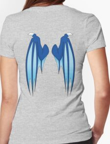 Dragon wings - blue Womens Fitted T-Shirt