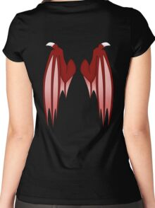 Dragon wings - red Women's Fitted Scoop T-Shirt