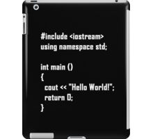 Hello World! C++ iPad Case/Skin