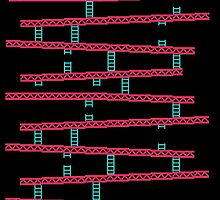 Donkey Kong stairs by galegshop