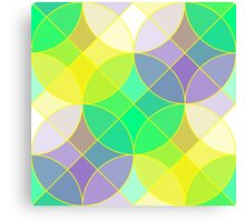 Stained glass tiles mosaic geometric pattern Canvas Print
