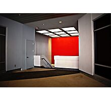 concrete and red Photographic Print