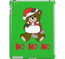 Festive Teddy Bear by Chillee Wilson iPad Case/Skin