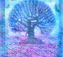 Tree of Life - pink and purple by goldenslipper