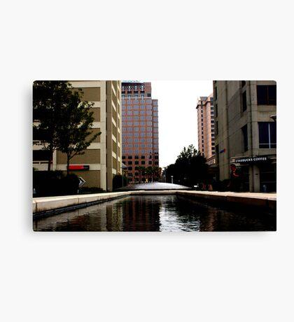 suburban plaza Canvas Print