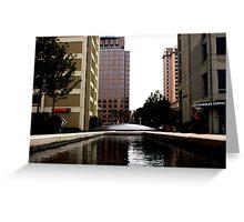 suburban plaza Greeting Card