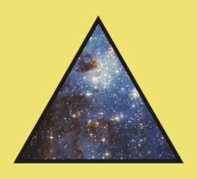 Blue Galaxy Triangle Kids Clothes