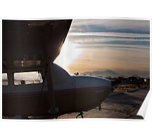 Cessna in the sun Poster