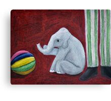 Elephants at Play Canvas Print