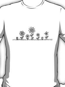 Flower field Zentangle T-Shirt
