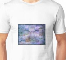Buddha Dream and Wonder Quote Unisex T-Shirt