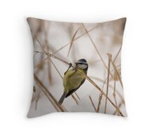 bluetit Throw Pillow