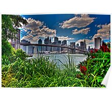 Spring In Brooklyn Bridge Park, NY, USA Poster