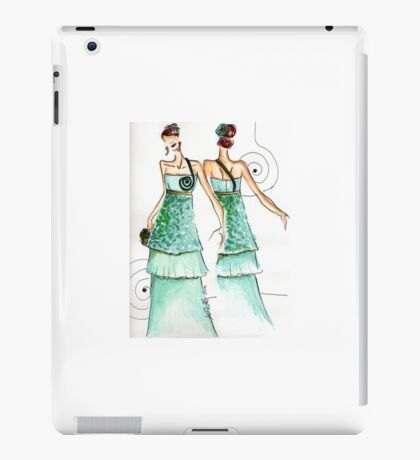 Cocktail woman fashion sketch iPad Case/Skin